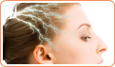 Electric shocks can occur in the head.