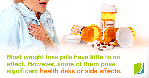 Most weight loss pills have little to no effect.