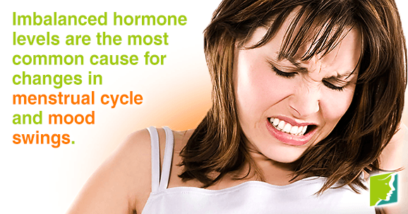 Changes in menstrual cycle can cause mood swings
