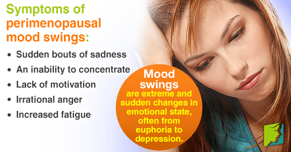 Symptoms of perimenopausal mood swings