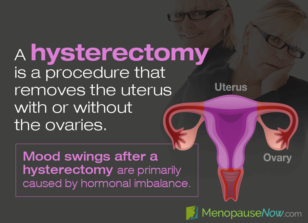 A hysterectomy is a procedure that removes a woman's uterus.