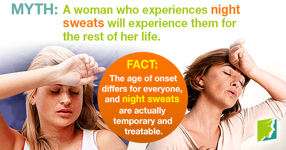 Myth: A woman who experiences night sweats will experience them for the rest of her life