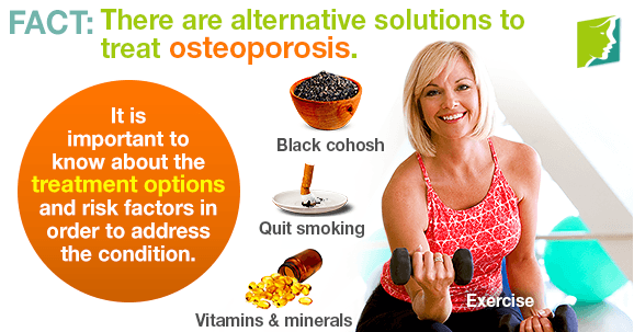 FACT: There are alternative solutions to treat osteoporosis.