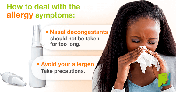 How to deal with the allergy symptoms