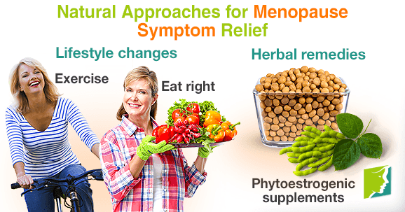 Natural approaches for menopause symptom relief.