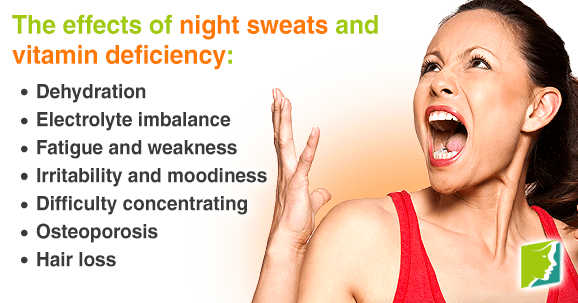 Night sweats and vitamin can quickly develop into a serious condition.