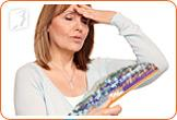 Rush of intense heat is a characteristic of hot flashes.