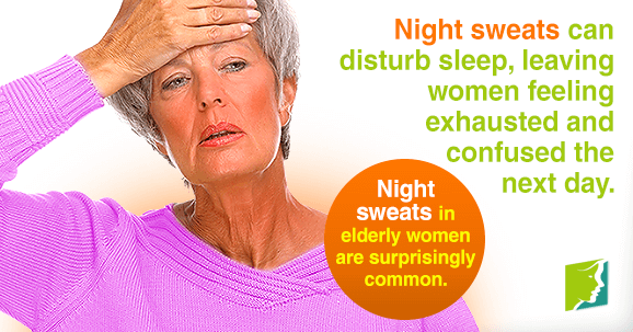Night sweats in elderly women are surprisingly common