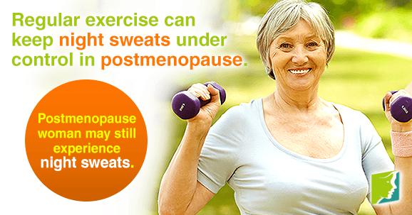 Postmenopausal women may still experience night sweats