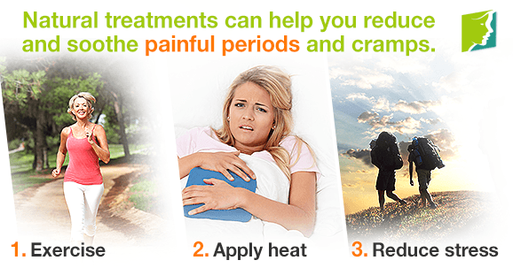 Natural treatments can help you reduce and soothe painful periods and cramps.