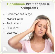 Uncommon premenopause symptoms