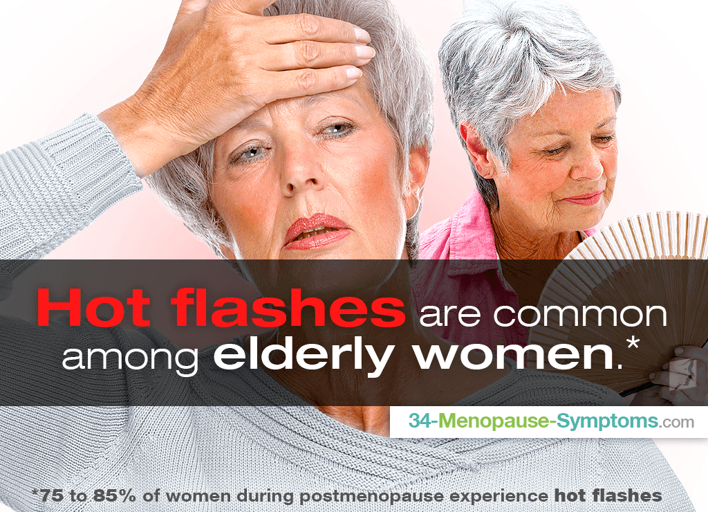 Hot flashes are common among elderly women
