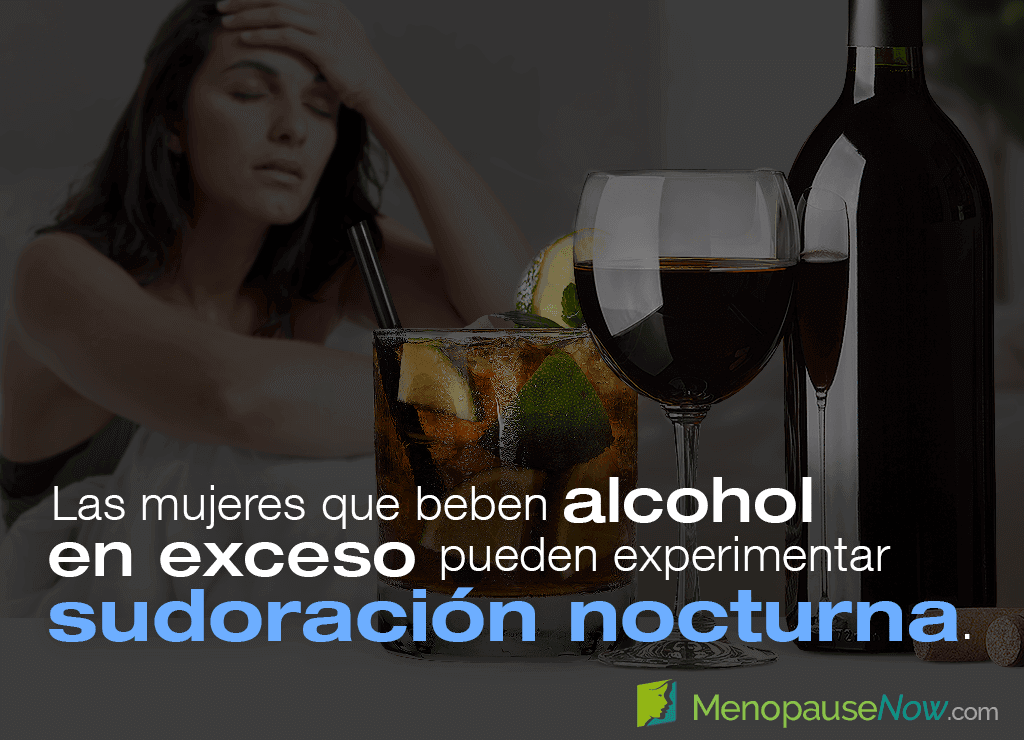 Women who drink alcohol in excess may experience night sweats.