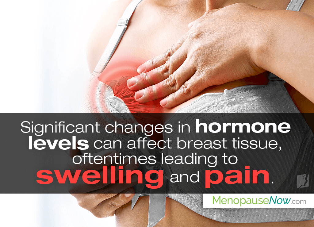 Hormonal imbalance during menopause cause breast pain