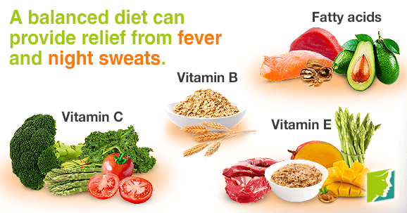 Eat foods rich in vitamins that can provide relief from night sweats