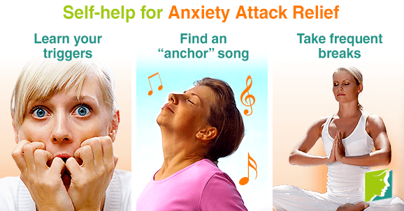 Self-help for anxiety attack relief
