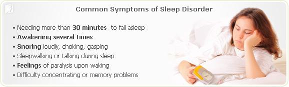 Common symptoms of sleep disorders