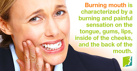 A sore burning tongue is not the same as the temporary discomfort that many people experience after eating certain foods