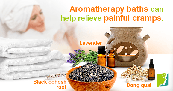 Aromatherapy baths can help relieve painful cramps.