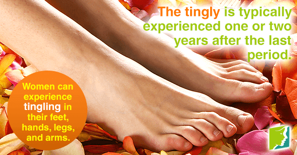 Women can experience tingling in their feet, hands, legs, and arms