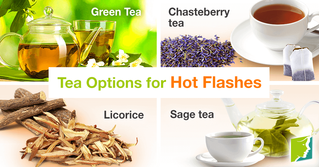 There are many tea options that reduce the frequency and intensity of hot flashes.