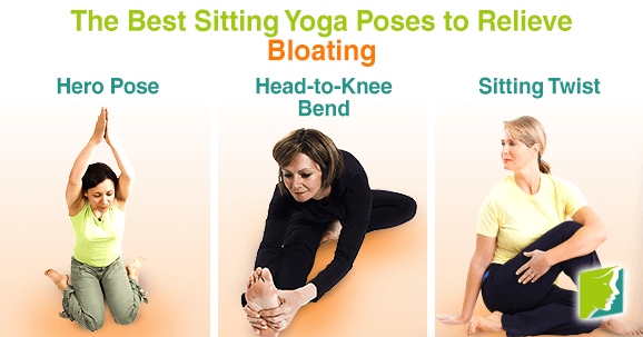 The best sitting yoga poses to relieve bloating