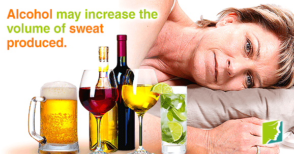 Alcohol may increase the volume of sweat produced