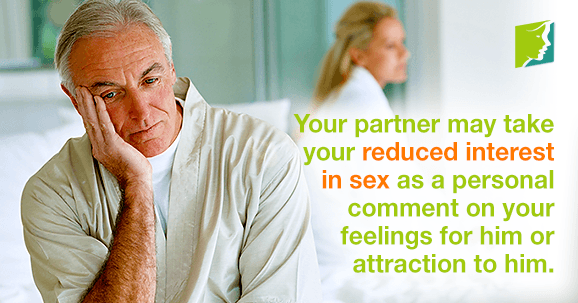 It is important to communicate that your loss of libido is not personal.