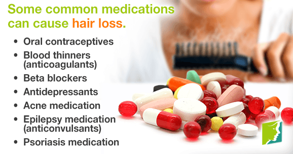 Some common medications can cause hair loss