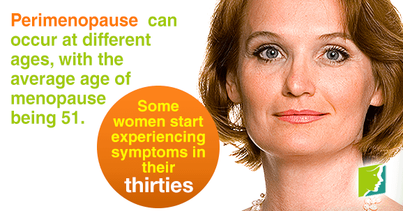 Perimenopause can occur at different ages