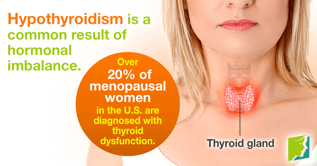 Hypothyroidism is a common result of hormonal imbalance.