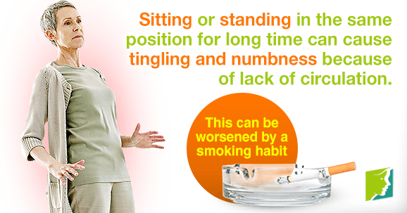Tingling extremities and numbness affect the arms and legs