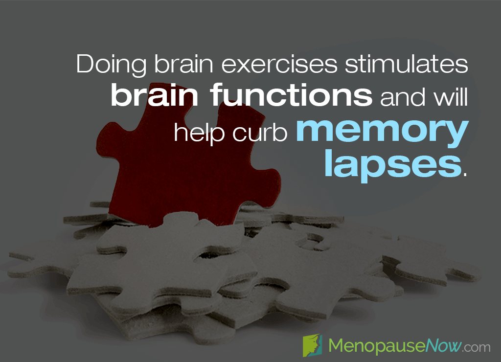 During menopause women may notice more frequent memory lapses