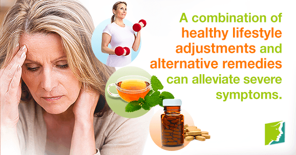 A combination of healthy lifestyle adjustments and alternative remedies can alleviate severe symptoms