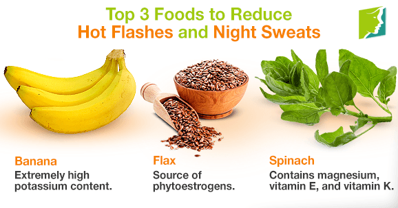 Top 3 Foods To Reduce Hot Flashes And Night Sweats