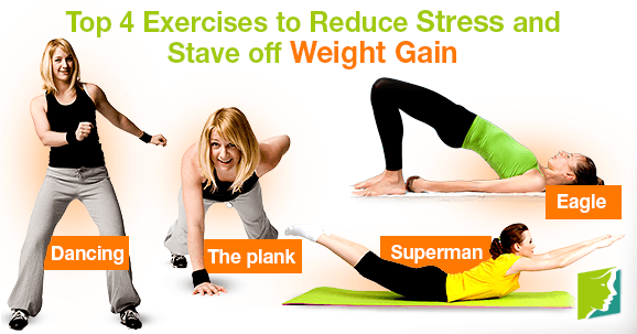 Top 4 Exercises to Reduce Stress and Stave off Weight Gain