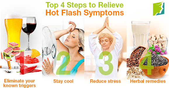 Top 4 Steps to Relieve Hot Flash Symptoms