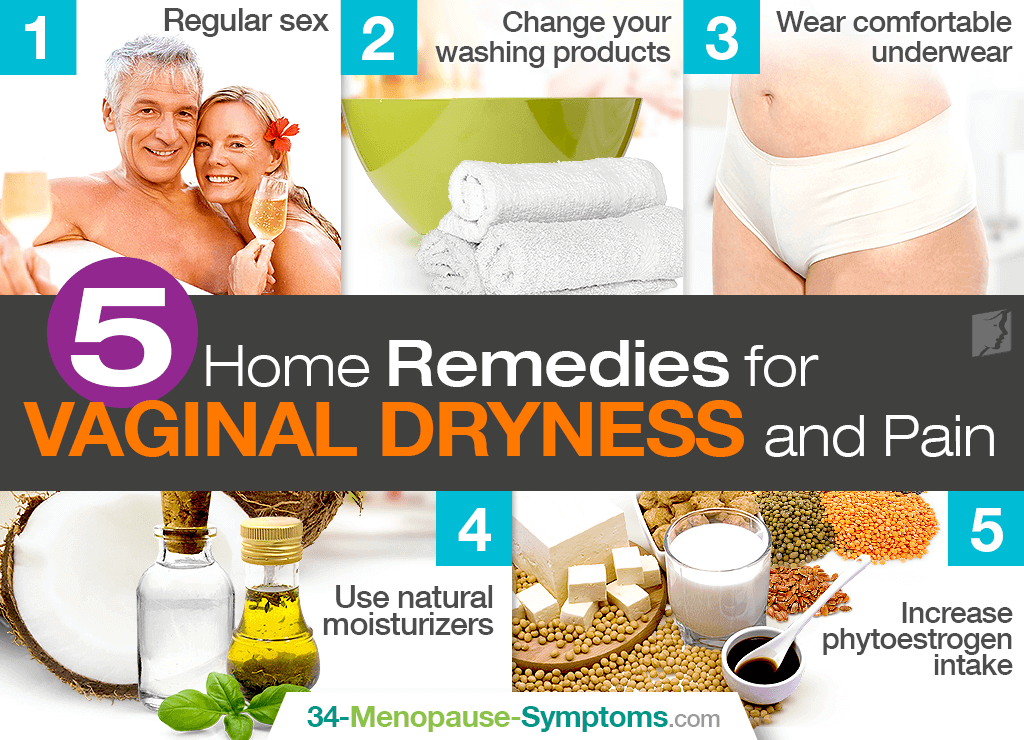 Remedies for vaginal dryness and pain