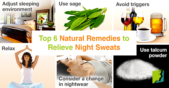 Top 6 Natural Remedies to Relieve Night Sweats
