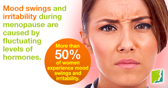 Mood swings are caused by fluctuating levels of hormones.