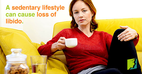 A sedentary lifestyle can cause loss of libido