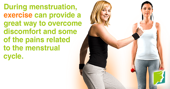 During menstruation exercise can provide a great way to overcome discomfort and some of the pains
