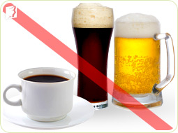 Avoid caffeine or alcohol to alleviate vaginal dryness