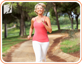 Woman running: too much exercise can worsen menopause symptoms