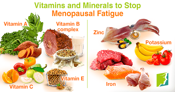 Vitamins and Minerals to Stop Menopausal Fatigue