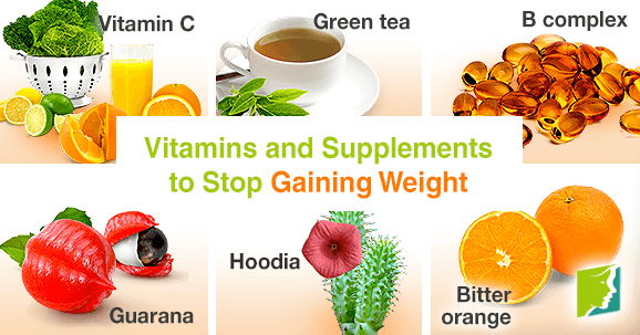 Vitamins and supplements to stop gaining weight.