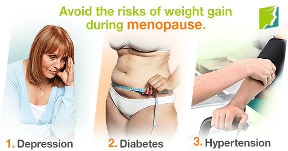 Avoid the risks of weight gain during menopause