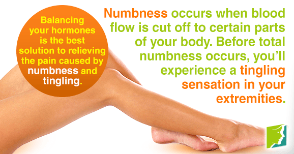 Numbness occurs when blood flow is cut off to certain parts of your body.