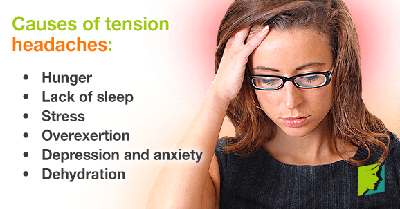 Causes of tension headaches