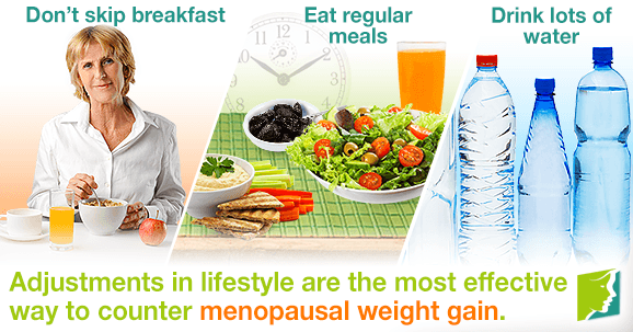 Adjustments in lifestyle are the most effective way to counter menopausal weight gain.